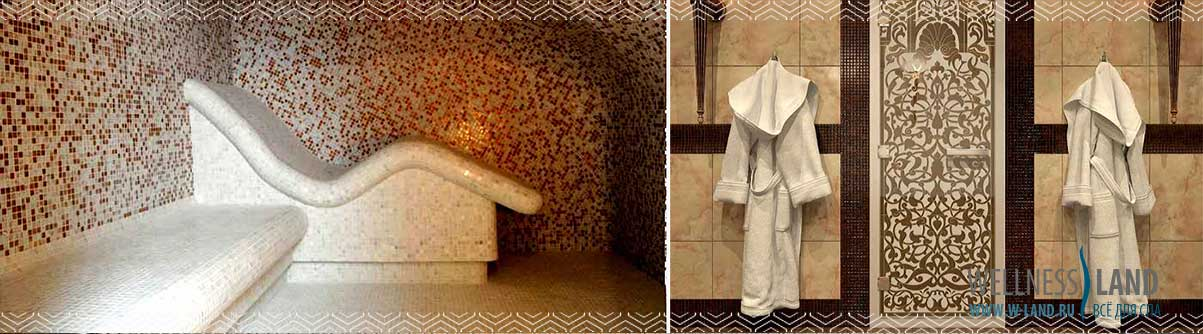 Отделка хамама или турецкой бани