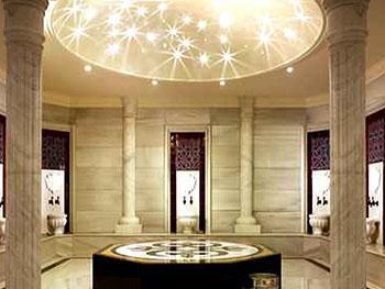 строительство турецкой бани хамама потолок