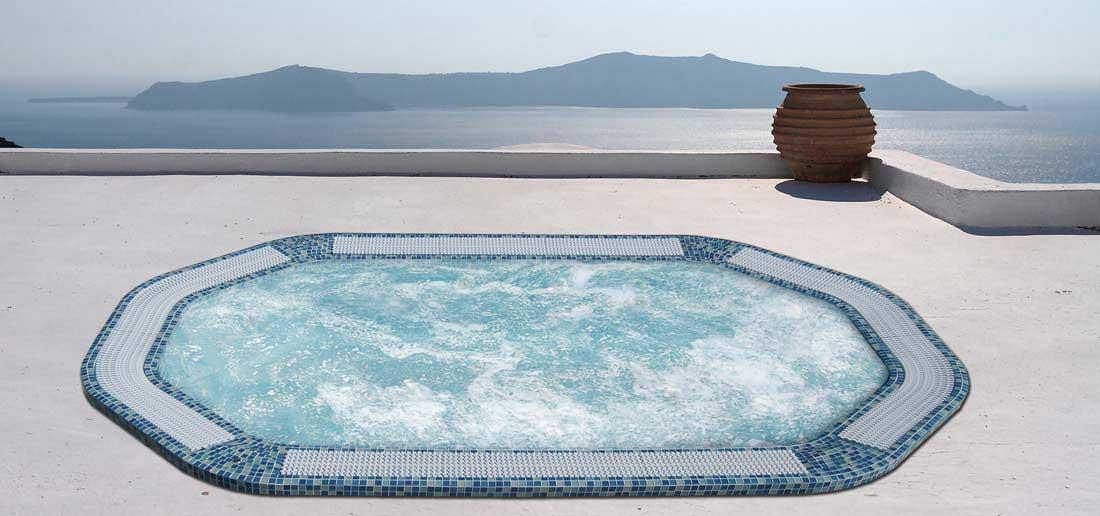 Переливной спа бассейн AQUAVIA SPA HAWAI (мозаичный СПА)
