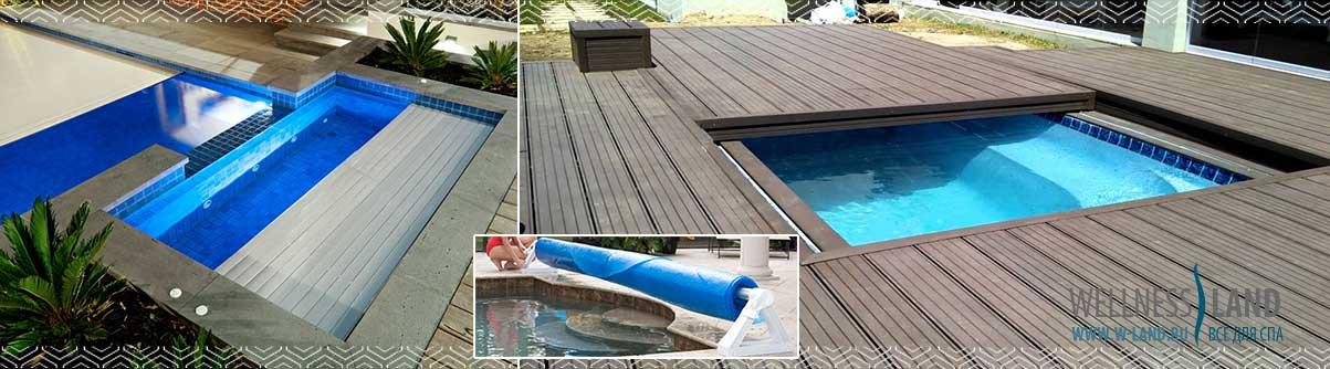 покрытие бассейна из бетона