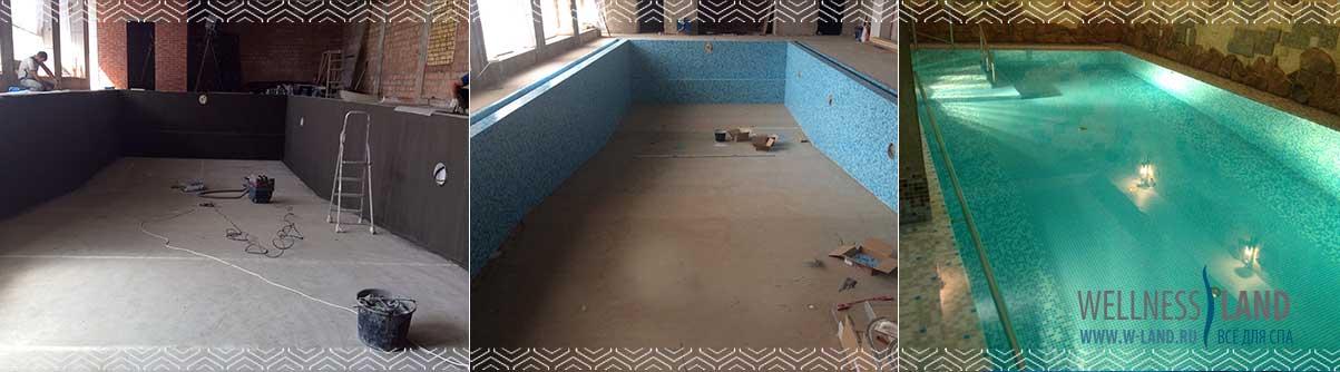 бассейн из бетона этапы строительства