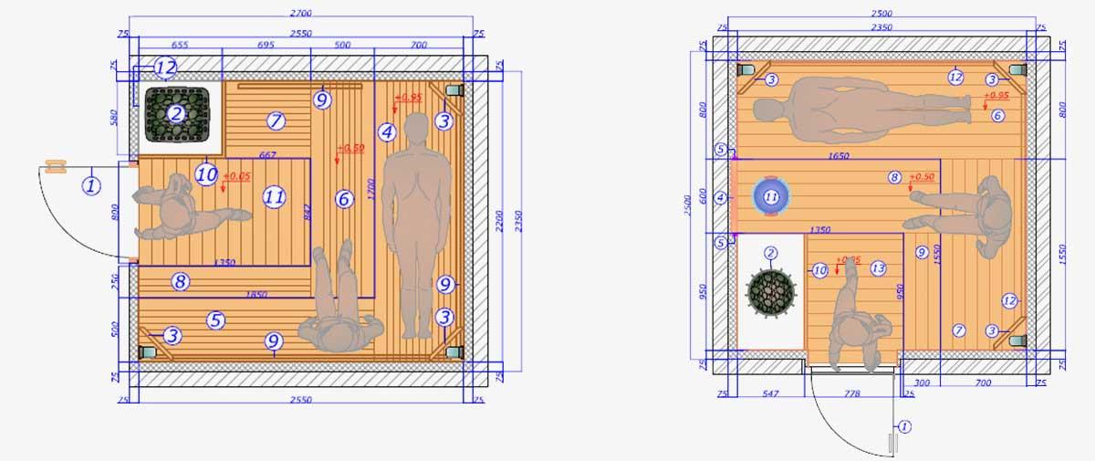 Проектирование сауны и бани